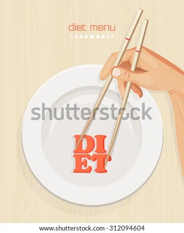 Healthy Diet Menu Cover Template Concept Stock Vector (Royalty Free