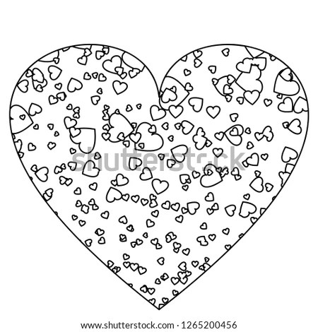 Heart Template Small Hearts Icon Vector Stock Vector (Royalty Free