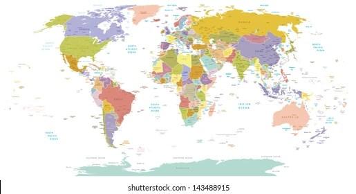 editable world map Images, Stock Photos  Vectors Shutterstock
