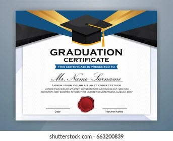 Graduation Certificate Images Stock Photos Vectors