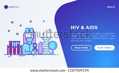 HIV AI Ds Concept Doctor Blood Test Stock Vector (Royalty Free