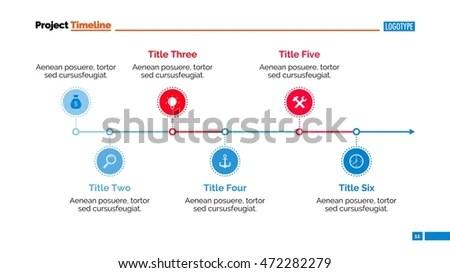 Horizontal Timeline Chart Slide Template Stock Vector (Royalty Free - template for timeline chart