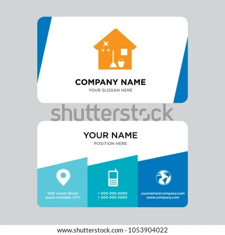 cleaning maid service brunette character crown business card good