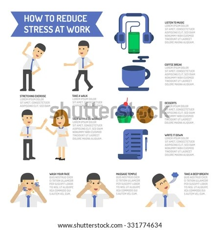 How Reduce Stress Work Stock Vector (Royalty Free) 331774634
