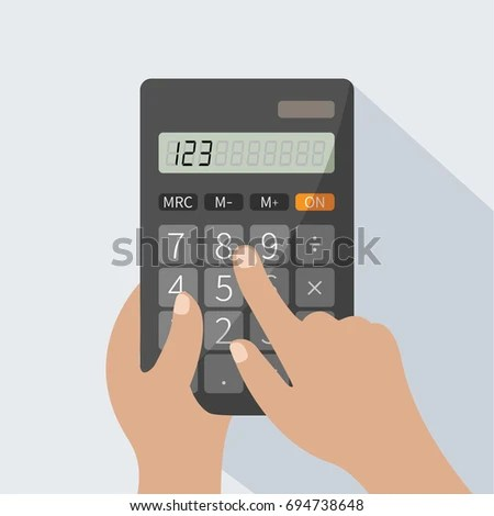 Human Hands Holding Realistic Simple Vector Stock Vector (Royalty - simple credit card calculator
