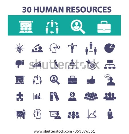 Human Resources Organization Management System Ceo Stock Vector