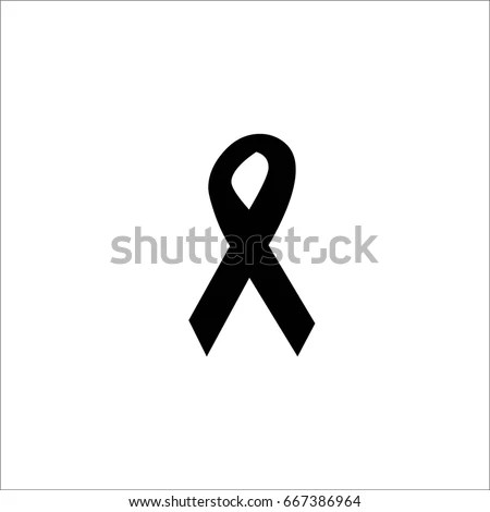 Icon Symbol Struggle Awareness Purple Ribbon Stock Vector (Royalty