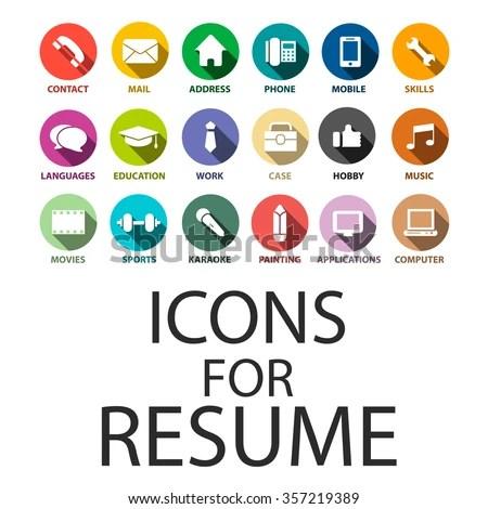 Icons Set Your Resume CV Job Stock Vector (Royalty Free) 357219389