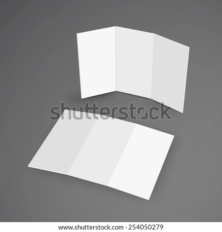 Illustration Blank Brochure 3 D Illustration Stock Vector (Royalty