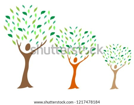 Illustration Family Tree Design Isolated On Stock Vector (Royalty