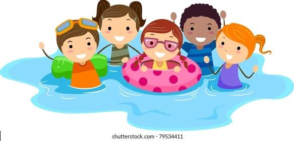 Cartoon Swimming Pool Images, Stock Photos  Vectors Shutterstock