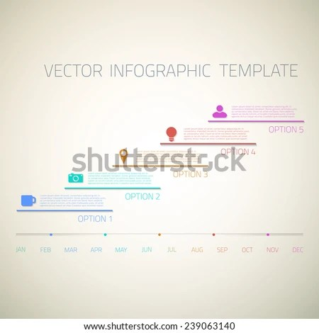 Illustration Web Infographic Timeline Template Layout Stock Vector