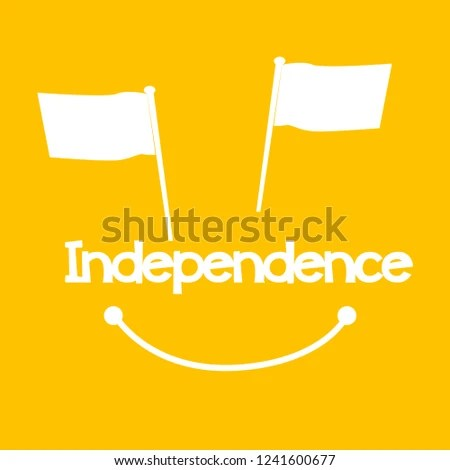 Independence Beautiful Greeting Card Background Banner Stock Vector