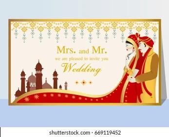 Hindu Wedding Card Images Stock Photos Vectors