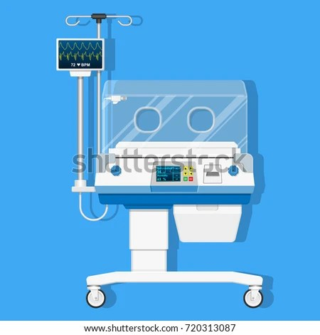Infant Incubators Machine Maintain Healthy Environment Stock Vector
