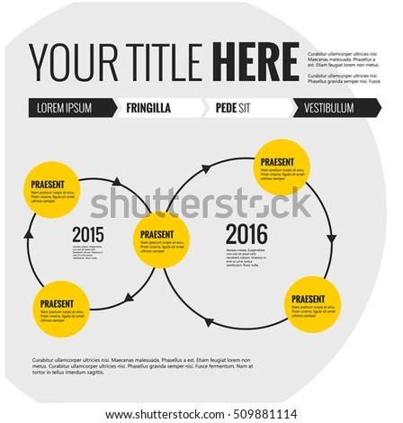 Infographic Elements Flywheel Interdependent Cycle Vector Stock