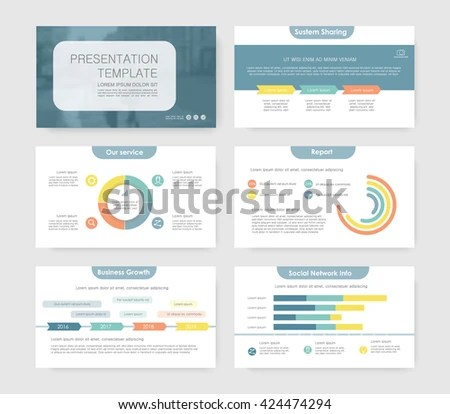 Infographic Elements Presentation Templates Leaflet Annual Stock