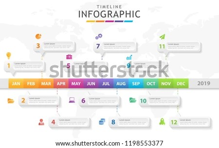 Infographic Template Business Modern Timeline Diagram Stock Vector