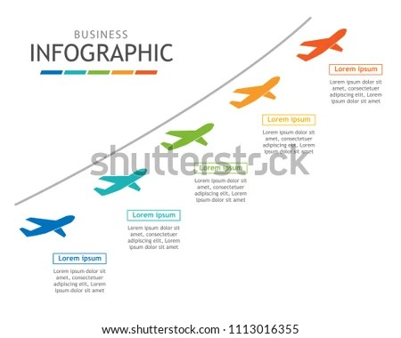 Infographic Template Business Roadmap Chart Diagram Stock Vector