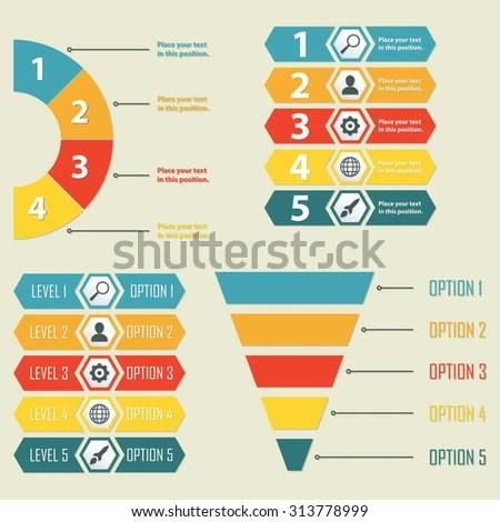 Infographic Templates Infographics Design Elements Web Stock Vector
