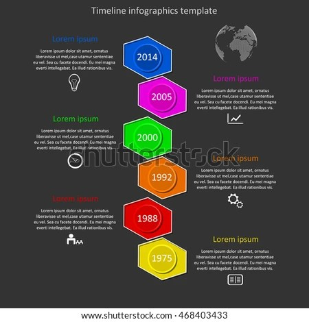 Infographic Timeline Vector Company History Template Stock Vector