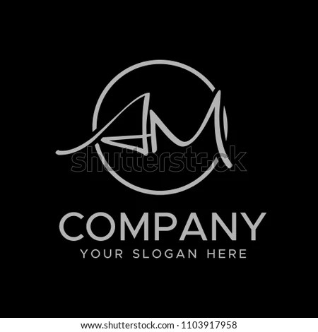 Initial Letters M Elegant Logo Modern Stock Vector (Royalty Free