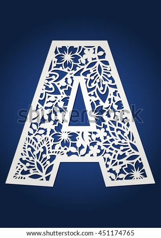 Initial Monogram Letter A May Be Stock Vector (Royalty Free