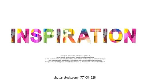 Mission Word Creative Design Concept Modern Stock Vector (Royalty
