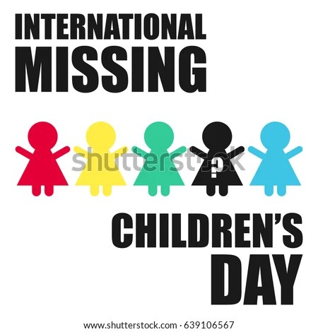 International Missing Childrens Day Suitable Banner Stock Vector