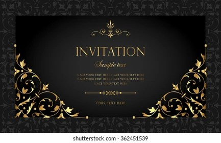 invitation card Images, Stock Photos  Vectors Shutterstock