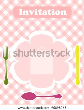 Invitation Dinner Card Design Template Vector Stock Vector (Royalty