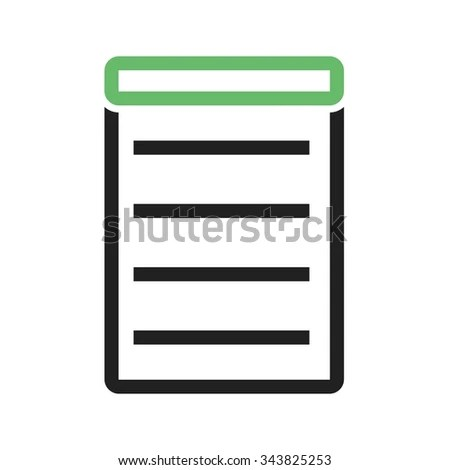 Invoice Bill Receipt Icon Vector Image Stock Vector (Royalty Free
