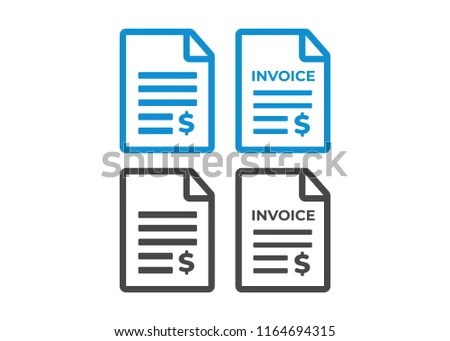 Invoice Icon Payment Billing Invoices Vector Stock Vector (Royalty