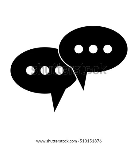 Isolated Communication Bubble Design Stock Vector (Royalty Free