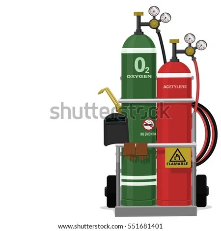 Isolated Set Gas Welding Equipment On Stock Vector (Royalty Free