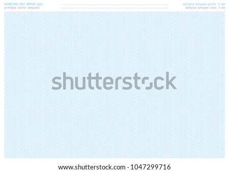 Isometric Dot Paper Vector Printable Sheet Stock Vector (Royalty