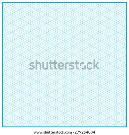 Isometric Graph Paper Layout Vector Illustration Stock Vector