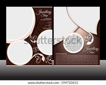 Jewellery Flyer Template Vector Illustration Stock Vector (Royalty