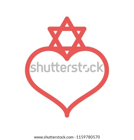 Jews Dating Apps Logo Icon Vector Stock Vector (Royalty Free - apps symbol