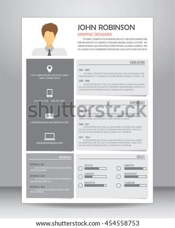 Job Resume CV Layout Template A 4 Stock Vector (Royalty Free