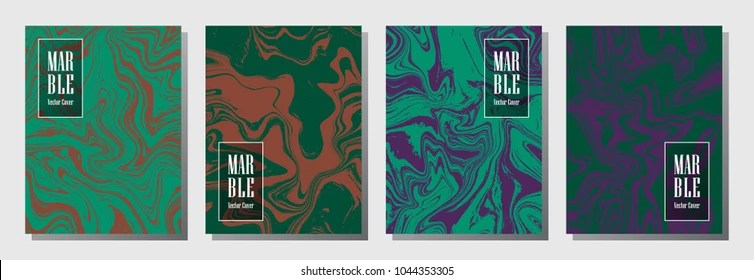 Modern Journal Layouts Set Graphic Design Stock Vector (Royalty Free