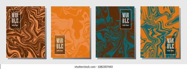 Journal Cover Party Flyer Marble Background Stock Vector (Royalty
