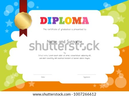 Certificate Template Kids Cvfreelettersandforesight