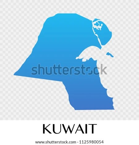 Kuwait Map Asia Continent Illustration Design Stock Vector (Royalty
