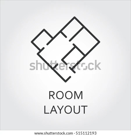 Label Room Layout Architectural Schematic Floor Stock Vector