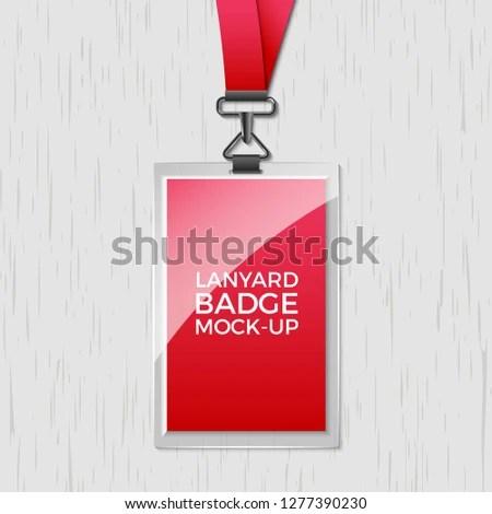 Lanyard Badge Id Card Template Blank Stock Vector (Royalty Free