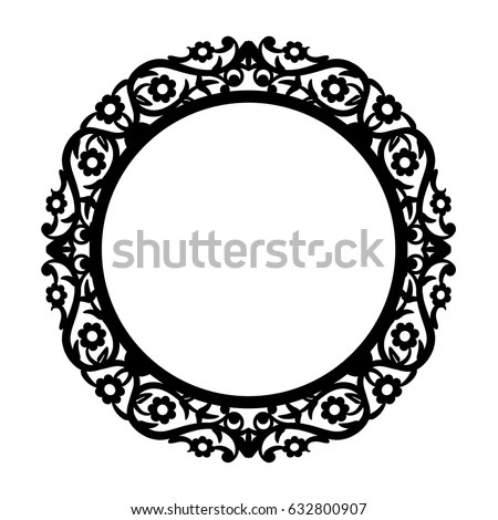 Laser Cut Photo Frame Word Love Stock Vector (Royalty Free - word design frames