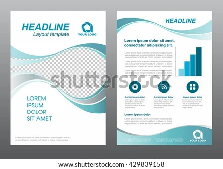 Layout Flyer Template Size A 4 Cover Stock Vector (Royalty Free