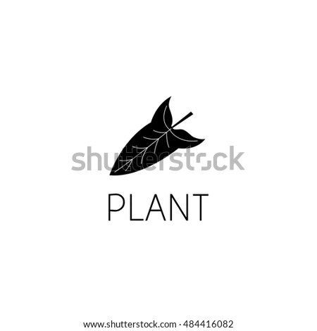Leaf Logo Graphic Design Concept Editable Stock Vector (Royalty Free