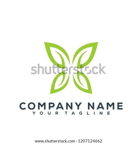 Leaf Tree Creative Logo Modern Simple Stock Vector (Royalty Free